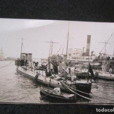 Postales: MALAGA-PUERTO-BARCOS-FOTOGRAFIA ANTIGUA-VER REVERSO-(85.370). Lote 296894668