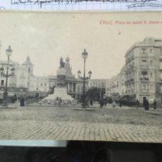 Postales: CADIZ. PLAZA DE ISABEL II DESDE EL MUELLE. Lote 297084983