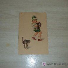 Postales: POSTAL GATO Y PERRO ERIZADOS,AMAG. Lote 10685823