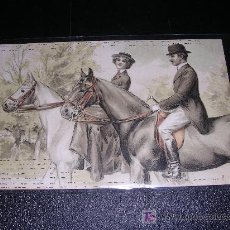 Postales: PAREJA CABALLOS CON RELIEVE. Lote 7062820
