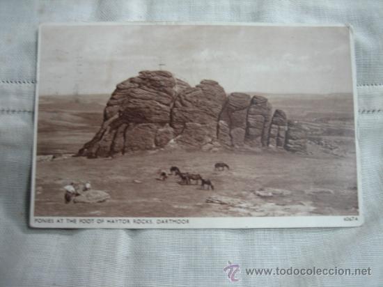 PONIES AT THE FOOT HAYTOR ROCKS DARTMOOR CIRCULADA (Postales - Postales Temáticas - Animales)