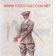 Postales: 7-CAB4. POSTAL COLOREADA JINETE VESTIDO 1916. Lote 3891449