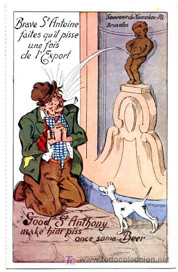 PERROS, PERRITOS, HOMBRE, P23158 (Postales - Postales Temáticas - Animales)