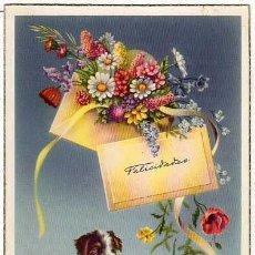 Postales: POSTAL FELICIDADES CON PERRO. EDIC.C Y Z. SERIE 552A N.1. Lote 13925961