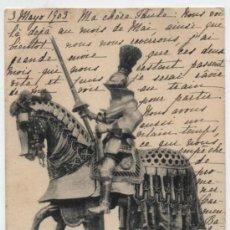 Postales: ARNÉS DE JUSTA DE CARLOS V. FRANQUEADO Y FECHADO EN MADRID EN 1905.. Lote 19030523