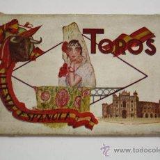 Postales: TACO DE 12 POSTALES DE TAUROMAQUIA - TOROS. FIESTA ESPAÑOLA - MEDIDAS 15,5 X 9,5 CM. Lote 28011629