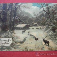 Postales: POSTAL ANTIGUA - INVERNAL - RENOS - AÑO 1903. Lote 29927688