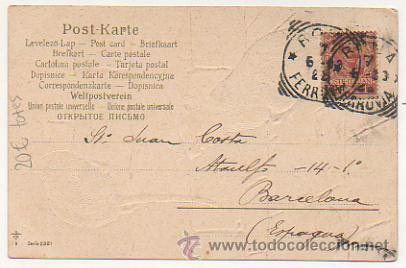Postales: SERIE DE 4 POSTALES. RATONES. RATAS. CIRCULADAS 1903. (REVERSO SIN DIVIDIR). CON RELIEVE. - Foto 5 - 30175866