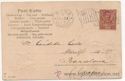 Postales: SERIE DE 4 POSTALES. RATONES. RATAS. CIRCULADAS 1903. (REVERSO SIN DIVIDIR). CON RELIEVE. - Foto 4 - 30175866