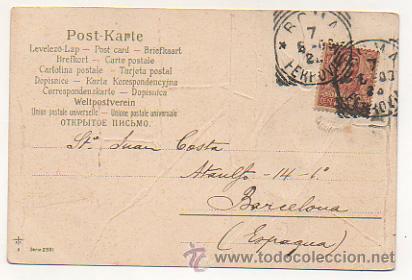 Postales: SERIE DE 4 POSTALES. RATONES. RATAS. CIRCULADAS 1903. (REVERSO SIN DIVIDIR). CON RELIEVE. - Foto 3 - 30175866