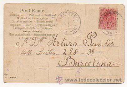 Postales: SERIE DE 4 POSTALES. RATONES. RATAS. CIRCULADAS 1903. (REVERSO SIN DIVIDIR). CON RELIEVE. - Foto 2 - 30175866