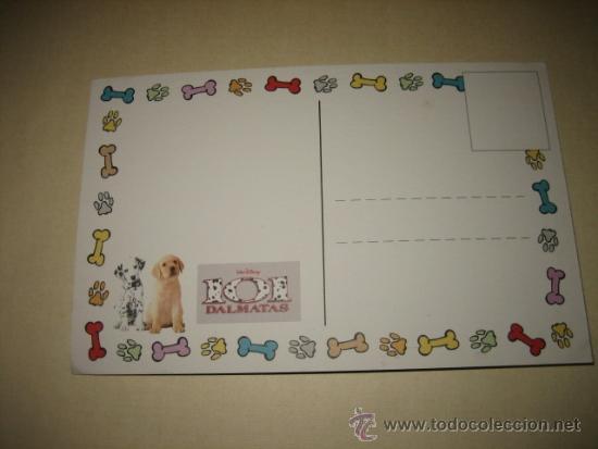 Postales: POSTAL DE LA PELICULA 101 DALMATAS DISNEY - Foto 2 - 32847775