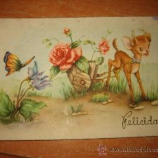 Postales: FELICIDADES ESCRITA Y FECHADA 1952. Lote 33429703