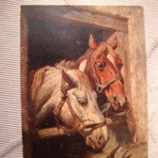 Postales: TARJETA POSTAL ORIGINAL DIBUJOS CABALLO Y GOLONDRINA, POST CARD, CA.1915. Lote 33760486