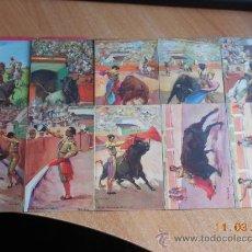 Postales: COLECCION POSTALES ANTIGUAS TOROS. Lote 36214471