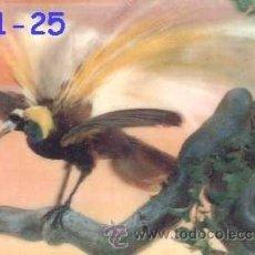 Postales: ANTIGUA POSTAL RELIEVE AVE DEL PARAISO AÑOS 60 A ESTRENAR*. Lote 38477967