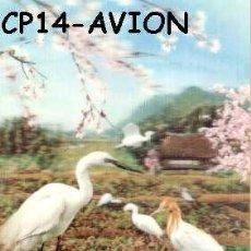Postales: ANTIGUA POSTAL RELIEVE PAJAROS AÑOS 60 A ESTRENAR*. Lote 38478061