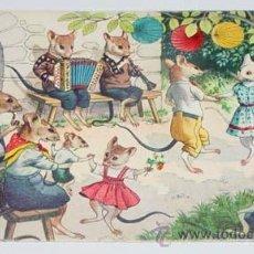 Postales: ANTIGUA POSTAL DE ANIMALES - FIESTAS DE RATONES - NO CIRCULADA - ESCRITA - ED. MK2.. Lote 38239640