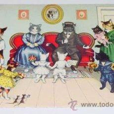 Postales: ANTIGUA POSTAL DE ANIMALES - REUNION FAMILIAR - NO CIRCULADA - ESCRITA - ED. MKZ - Nº 4737.. Lote 38239682