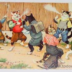 Postales: ANTIGUA POSTAL DE ANIMALES - GATOS FUMANDO - NO CIRCULADA - ESCRITA - ED. MKZ - Nº 4704.. Lote 38239688