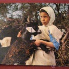 Postales: ANIMALES - COMPAÑIA - NIÑA - CABRA. Lote 40347454