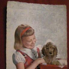 Postales: ANIMALES - COMPAÑIA - NIÑA - PERRO - COCKER -. Lote 40347456