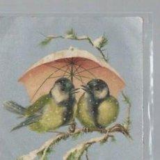 Postales: TARJETA POSTAL ANIMALES,GORRIONES BAJO PARAGUAS, PARIS SERIE 925. Lote 46245361
