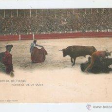 Postales: CORRIDA DE TOROS. GUERRITA EN UN QUITE 1902. Lote 46696711