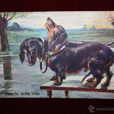 Postales: POSTAL DE MANUFACTURA ALEMANA TITULADA GLI STANCHI DELLA VITA Y FIRMADO E. DONADINI. ED. MAX SINZ. Lote 47691675