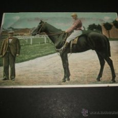 Postales: HIPICA JINETE A CABALLO POSTAL CROMOLITOGRAFICA ANTERIOR A 1905. Lote 49707560