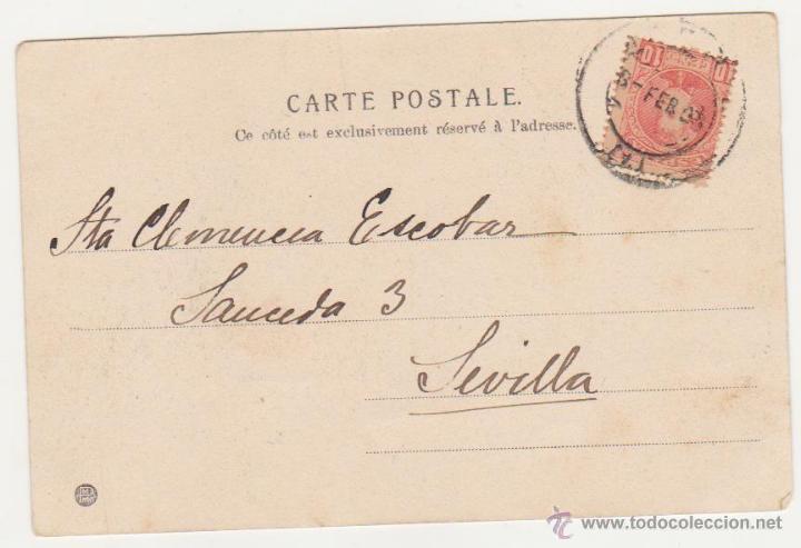 Postales: Postal. Franqueado y fechado en 1903. - Foto 2 - 50975019