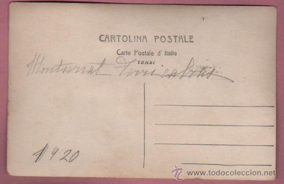 Postales: foto postal de dos jinetes con sus caballos - montserrat terricabras 1920 - Foto 2 - 51375719