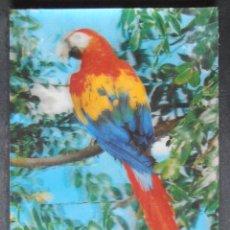 Postales: POSTAL,LORO,CACATUA,EFECTO 3D,TRIDIMENSIONAL, (39252),CONSERVACION,VER FOTOS. Lote 51931725
