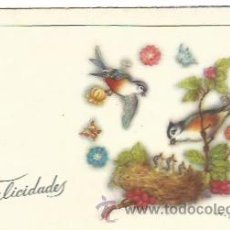 Postales: POSTAL PAJAROS AÑOS 50. Lote 52027494