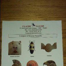Postales: POSTAL DE CLAUDE NATURE.(PARIS). Lote 53020437