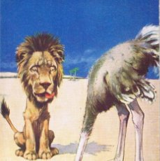 Postales: POSTAL ETIQUETTE FORBIDS A LION TO...OGTRICH... ED. A. VIVIAN MANSELL, LONDON, 1915. NO CIRCULADA. Lote 54040240