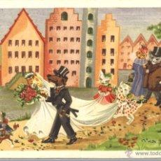 Postales: POSTAL CIRCULADA - 1955 - GATOS - PERRO. Lote 54127790