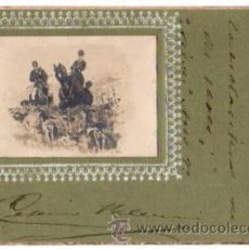 Postales: TARJETA POSTAL CON ESCENA DE CAZA. CIRCA 1905. Lote 54950114