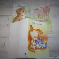 Postales: LOTE 2 POSTALES DE GATOS. Lote 58340605