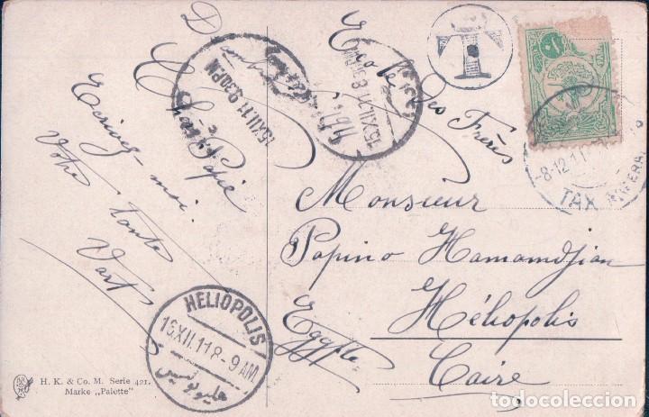 Postales: POSTALA NTIGUA DE UN AGUILA. H K CO M SERIES 421 MARKE PALETTE, CIRCULADA 1911 - Foto 2 - 64093767