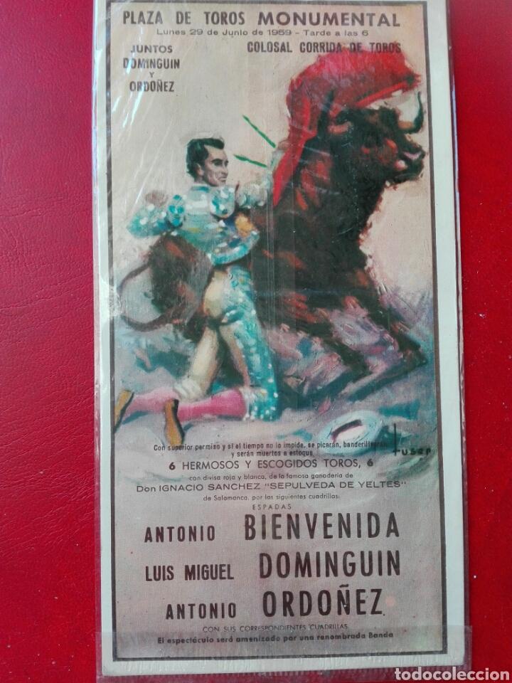 CARTEL 1959 JUNTOS ORDÓÑEZ Y DOMINGUÍN (Postales - Postales Temáticas - Animales)