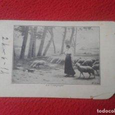 Postales: POSTAL POSTCARD POST CARD MUJER CHICA PASTORA PASTORCILLA CON OVEJAS. OVEJA . DE FRANCIA ? ESPAÑA ?. Lote 71591855