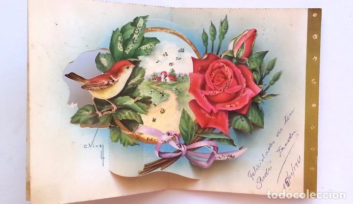 Postales: PRECIOSA TARJETA POSTAL DESPLEGABLE TROQUELADA ILUSTRADOR C. VIVES - AÑOS 50 - Foto 2 - 77316245