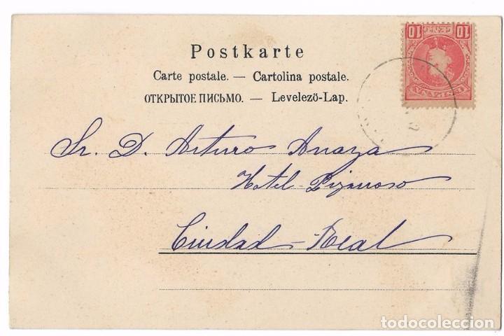 Postales: ANTIGUA POSTAL PÁJAROS - CIRCULADA 1902 - REVERSO SIN DIVIDIR - Foto 2 - 79245817