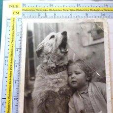Postales: POSTAL DE ANIMALES. AÑO 1952. PERRO PERRITO NIÑA. 1020. Lote 98023151