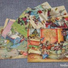 Postales: VINTAGE - LOTE DE 6 POSTALES CIRCULADAS - AÑOS 60 - MOTIVO GATOS - FABULAS ANIMALES - HAZ OFERTA. Lote 100754195