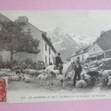 Postales: POSTAL FRANCIA GAVARNIE REBAÑO OVEJAS. Lote 105099540