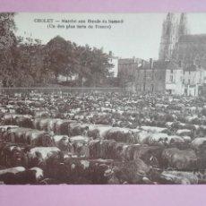 Postales: POSTAL FRANCIA CHOLET MERCADO DE VACUNO VACA BUEY. Lote 105100924