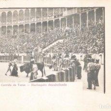 Postales: CORRIDA DE TOROS MACHAQUITO DESCABELLANDO. Lote 105329719