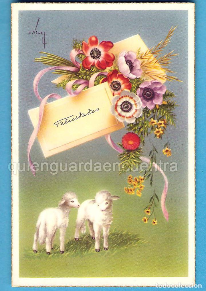 2 POSTALES OVEJA CORDERO C/Z 560/A Nº 5 Y 552/A Nº2 CARLES VIVES (Postales - Animales)
